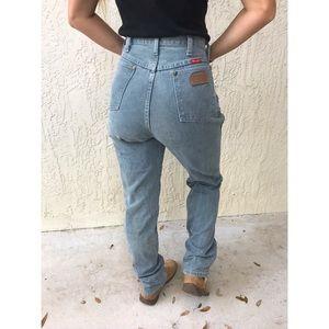 High Waisted Vintage Wrangler Jeans Dark Grey